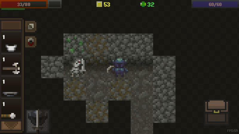 You may find surprises such as skeletons stuck into the walls